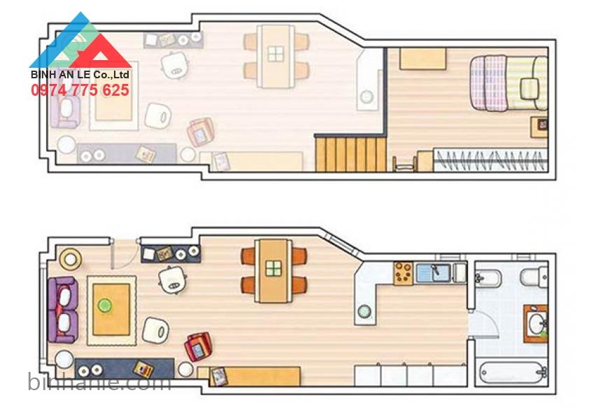 Mẫu nhà nội thất đẹp